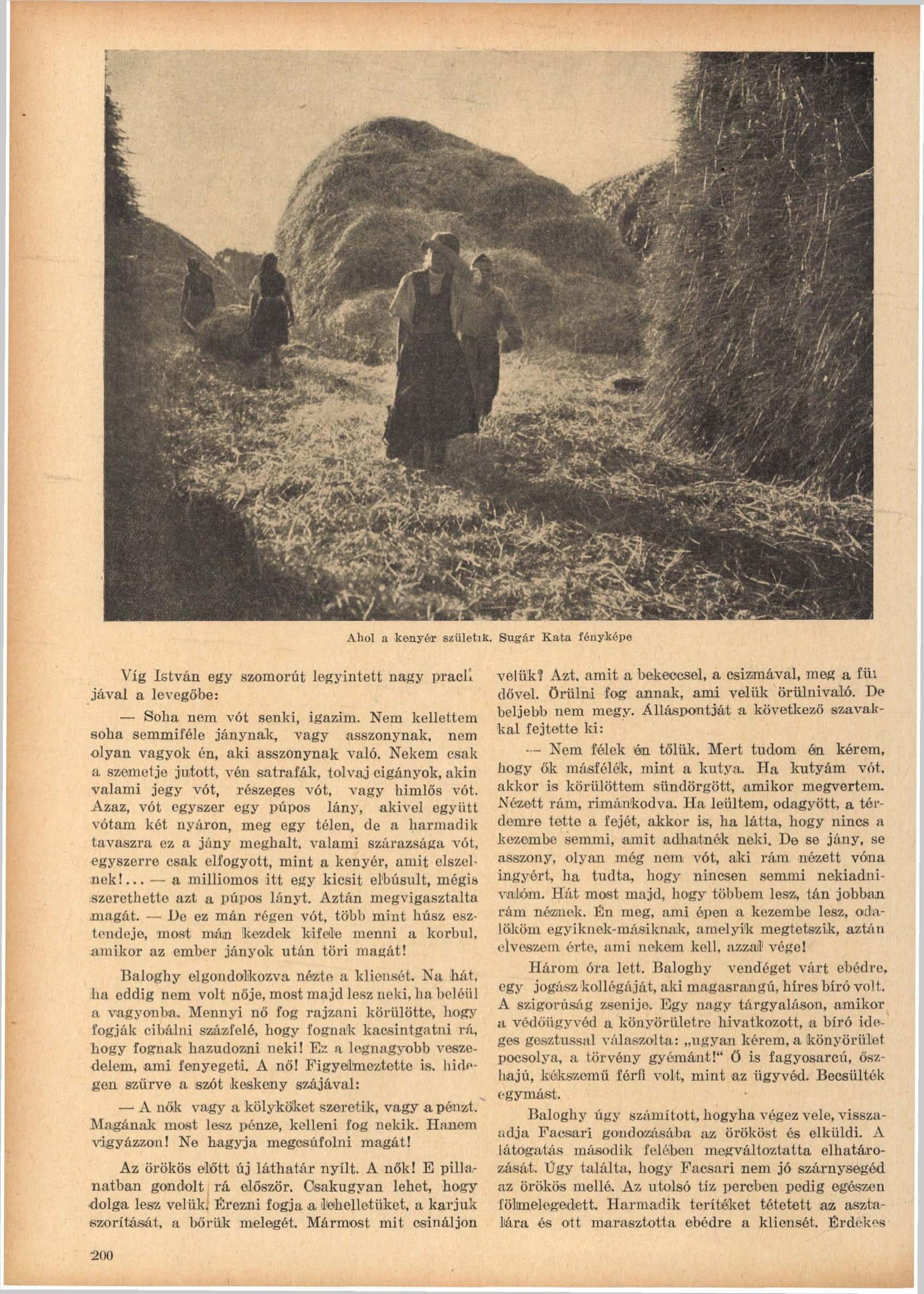 Fotó: Sugár Kata: Ahol a kenyér születik<br />Megjelent: Új Idők, 1941. 2.<br />Forrás: adtplus.arcanum.hu