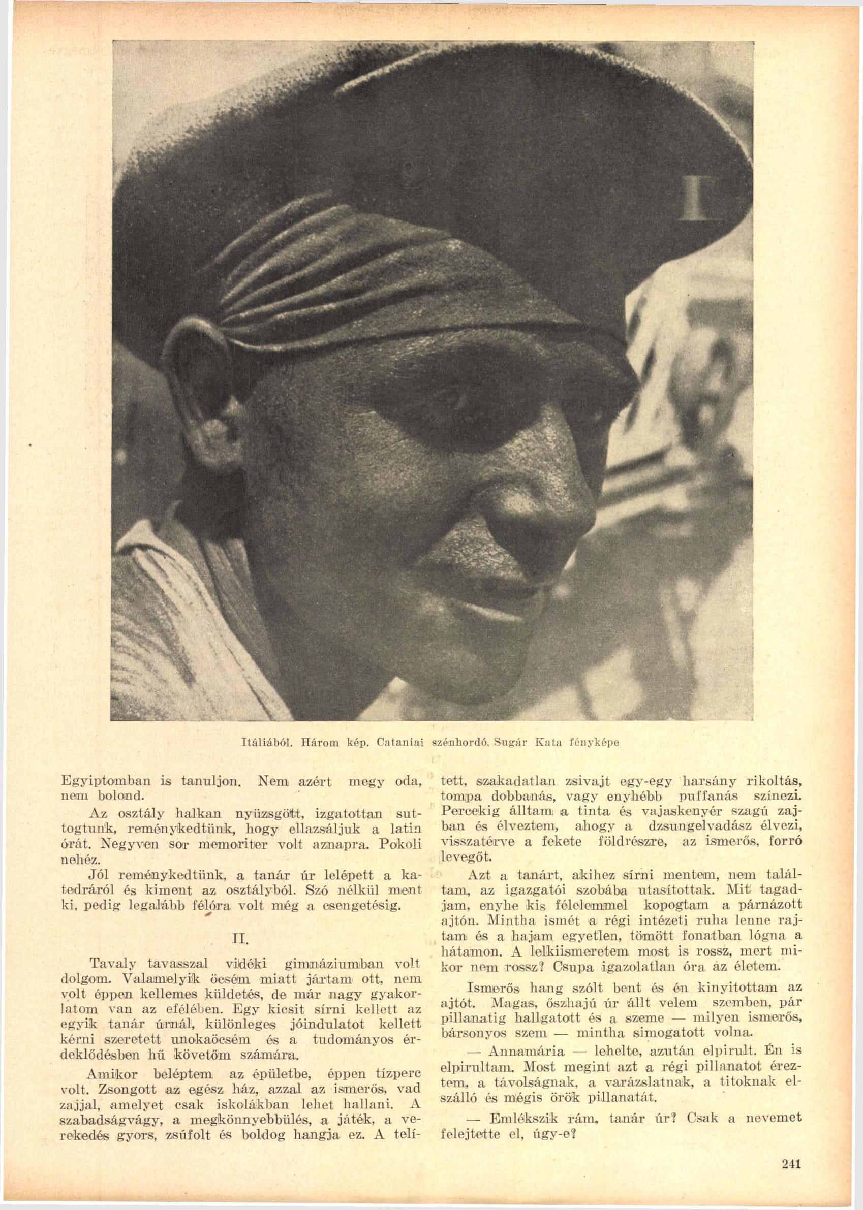 Fotó: Sugár Kata: Cataniai szénhordó<br />Megjelent: Új Idők, 1941. 2.<br />Forrás: adtplus.arcanum.hu