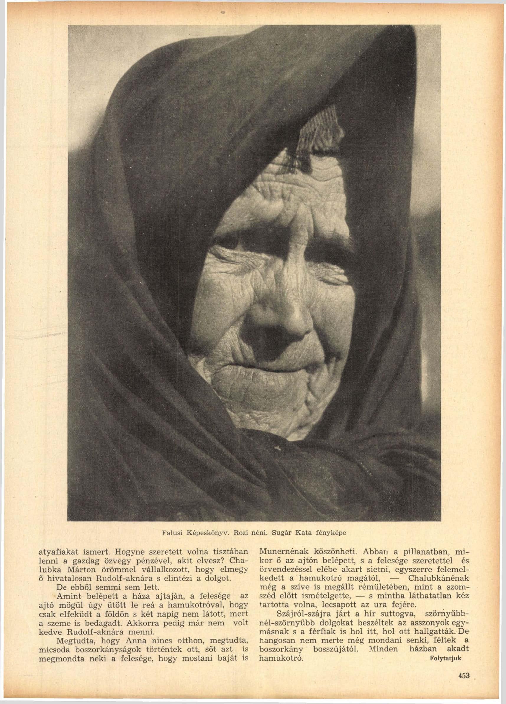 Fotó: Sugár Kata: Rozi néni<br />Megjelent: Új Idők, 1941. 2.<br />Forrás: adtplus.arcanum.hu
