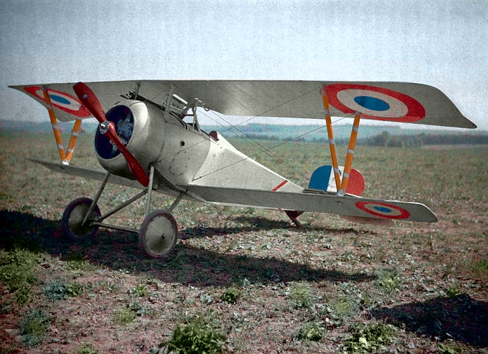 Fotó: Paul Castelnau: WW1 - Nieuport biplane fighter, Haut-Rhin, France, 1917 © Wikimedia Commons