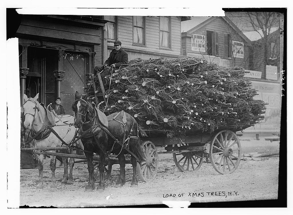 Fotó: Karácsony előtt, New York, 1915 © George Grantham Bain Collection (Library of Congress).