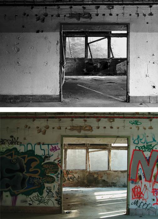 Fotó: Vékás Magdolna: Tűzraktér – ablak, digitális print, 2008, 50×70 cm © Vékás Magdolna