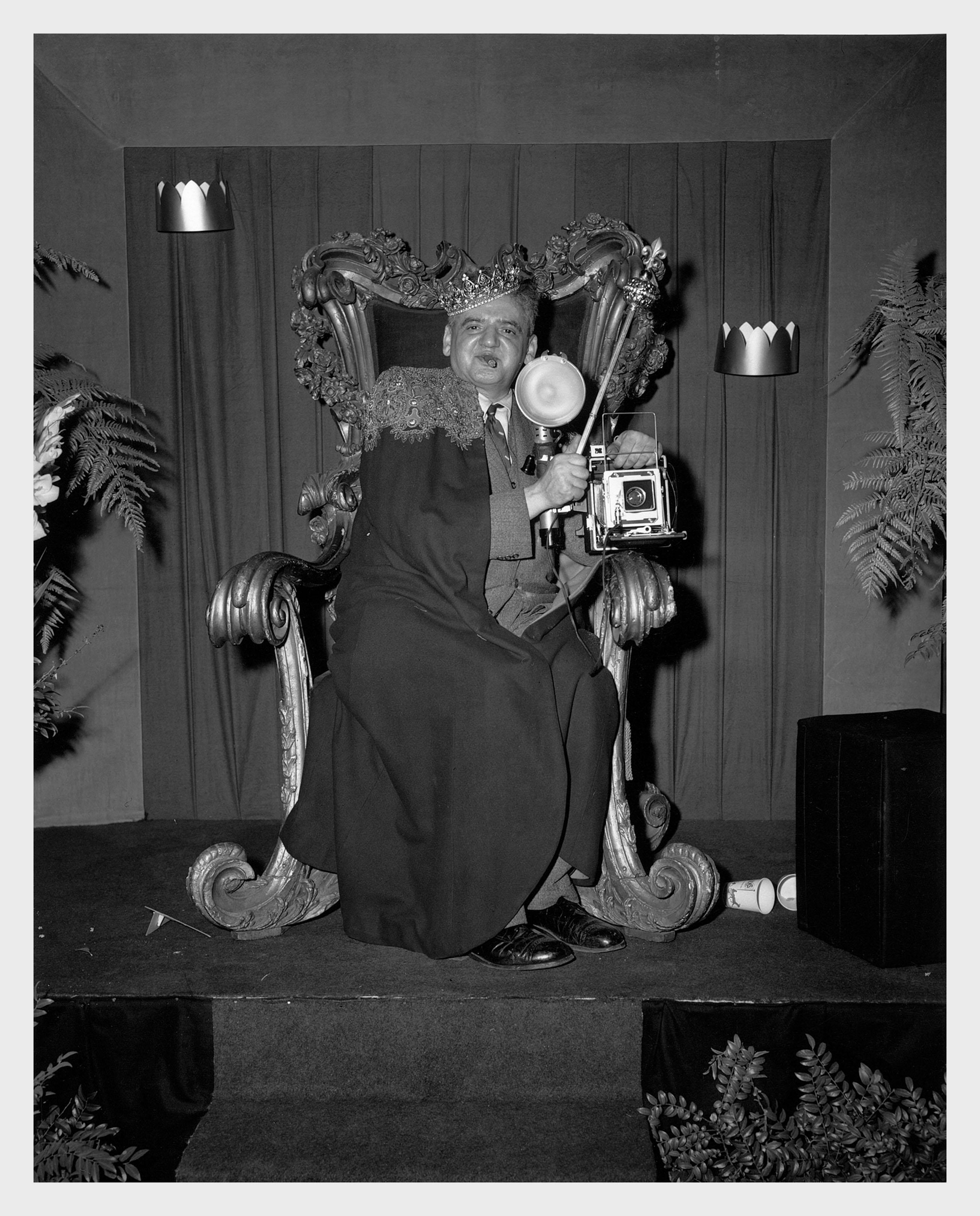 Fotó: Ismeretlen fotográfus: Weegee portréja, 1956 © Courtesy Institute for Cultural Exchange, Germany 2018