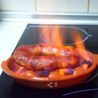 Lángolt kolbász Portugál módra