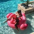 Flamingón lovagol az ismert sorozatszínésznő...