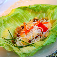 Rizstésztás zöldségsaláta