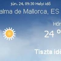 Mallorcai időjárás előrejelzés, 2010. június 24.