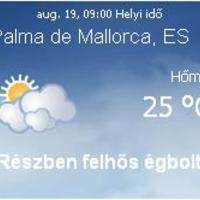 Mallorca napi aktuális időjárás előrejelzés, 2010. augusztus 19.