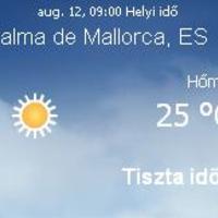 Mallorca napi aktuális időjárás előrejelzés, 2010. augusztus 12.