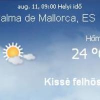 Mallorca napi aktuális időjárás előrejelzés, 2010. augusztus 11.