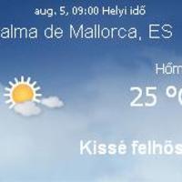 Mallorca napi aktuális időjárás előrejelzés, 2010. augusztus 5.