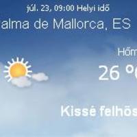 Mallorca aktuális időjárás előrejelzés, 2010. július 23.