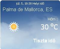 Mallorca időjárás előrejelzése, 2010. július 5.