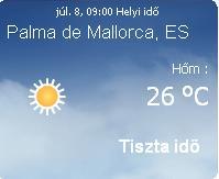 Mallorcai időjárás előrejelzés, 2010. július 9.