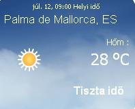 Mallorcai időjárás előrejelzés, 2010. július 12.