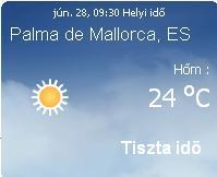 Mallorcai időjárás előrejelzés, 2010. június 28