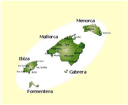 Mallorca térképe