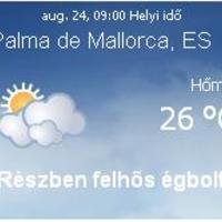 Mallorca napi aktuális időjárás előrejelzés, 2010. augusztus 24.