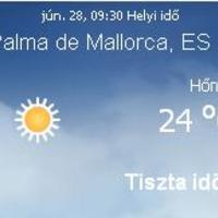 Mallorcai időjárás előrejelzés, 2010. június 29