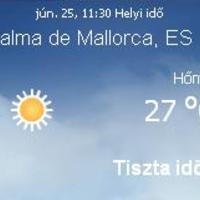 Mallorcai időjárás előrejelzés, 2010. június 25.