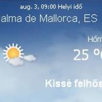 Mallorca napi aktuális időjárás előrejelzés, 2010. augusztus 3.