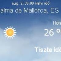 Mallorca napi aktuális időjárás előrejelzés, 2010. augusztus 2.