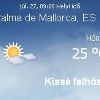 Mallorca napi aktuális időjárás előrejelzés, 2010. július 27.