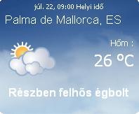 mallorca napi időjárás előrejelzés 2010