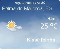 2010 előrejelzés időjárás mallorcai mallorca információ eső idöjárása infó felhő nap vihar