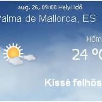 Mallorca napi aktuális időjárás előrejelzés, 2010. augusztus 26.