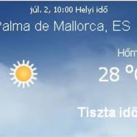 Mallorcai időjárás előrejelzés, 2010. július 2.