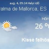Mallorca napi aktuális időjárás előrejelzés, 2010. augusztus 4.