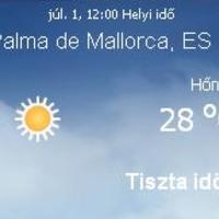 Mallorcai időjárás előrejelzés, 2010. július 1.