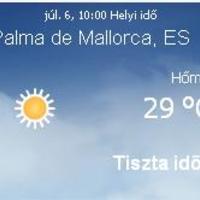 Mallorcai időjárás előrejelzés, 2010. július 6.