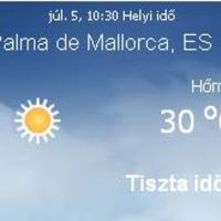 Mallorcai időjárás előrejelzés, 2010. július 05.