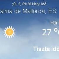 Mallorca aktuális időjárás előrejelzés, 2010. július 9.