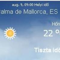 Mallorca napi aktuális időjárás előrejelzés, 2010. augusztus 9.