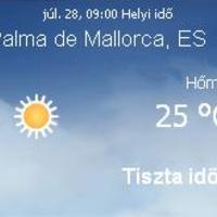 Mallorca napi aktuális időjárás előrejelzés, 2010. július 28.