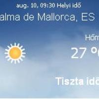 Mallorca napi aktuális időjárás előrejelzés, 2010. augusztus 10.