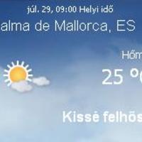 Mallorca napi aktuális időjárás előrejelzés, 2010. július 29.
