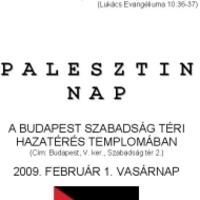Jobbik: palesztinok a saját hazájukban