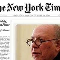 Ha nincs diktatúra, nincs interjú – Kertész Imre és a New York Times