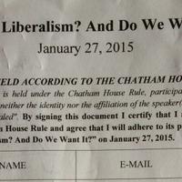 A liberalizmus, a 444 és a Chatham House szabály