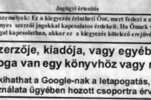 Google-fordított hirdetés a Népszabadságban