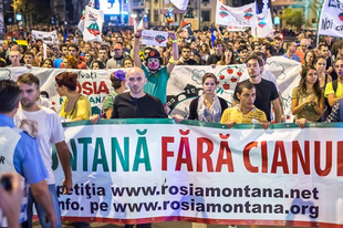 Verespatak: tüntetések Bukaresttől Kolozsvárig