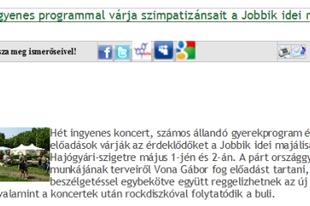 Jobbik-majálisra invitál az LMP
