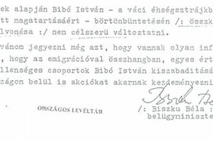 Biszku Béla és a bebörtönzött Bibó István