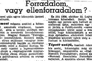 Így írt '56-ról Pozsgay Imre – 1957-ben