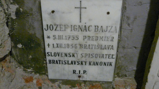 Pozsony, Bajza József sírja (a szerző felvétele)