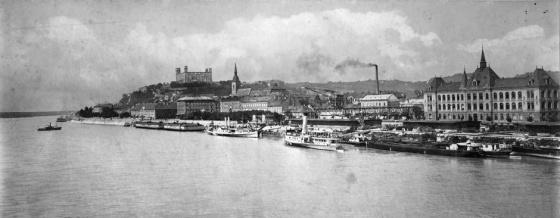 Szlovákia, Pozsony, Duna part (1925, Erky-Nagy Tibor)